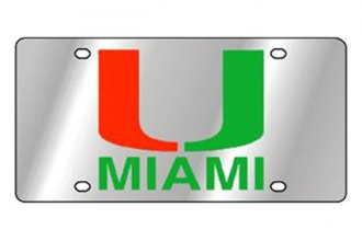 Eurosport Daytona® 1995-UM1 - Collegiate University of Miami License Plate