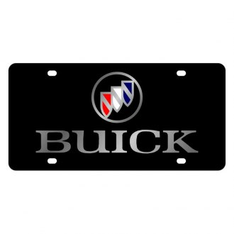 Eurosport Daytona® - GM Black License Plate with Silver Buick Logo