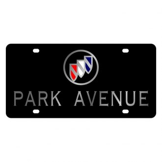 Eurosport Daytona® - GM Black License Plate with Silver Park Avenue Logo