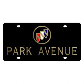 Eurosport Daytona® - GM Black License Plate with Gold Park Avenue Logo