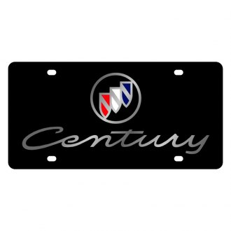Eurosport Daytona® - GM Black License Plate with Silver Century Logo and Buick Emblem