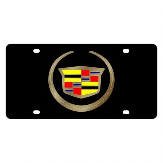 Eurosport Daytona® - GM Black License Plate with Gold Cadillac New Logo