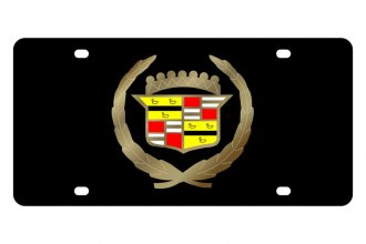 Eurosport Daytona® - GM Black License Plate with Gold Cadillac Logo