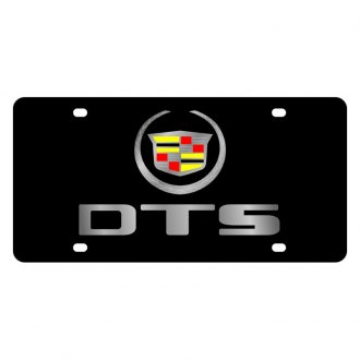 Eurosport Daytona® - GM Black License Plate with Silver DTS Logo