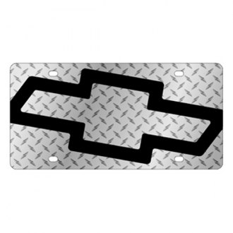 Eurosport Daytona® - GM Diamond License Plate with Black Chevrolet Bowtie Logo