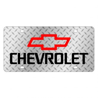 Eurosport Daytona® - GM Diamond License Plate with Black Chevrolet Logo