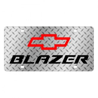 Eurosport Daytona® - GM Diamond License Plate with Black Blazer Logo