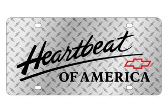 Eurosport Daytona® - GM Diamond License Plate with Black Heartbeat Logo