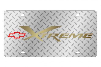 Eurosport Daytona® - GM Diamond License Plate with Gold Xtreme Logo