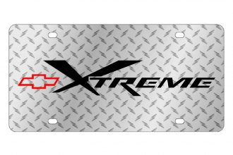 Eurosport Daytona® - GM Diamond License Plate with Black Xtreme Logo