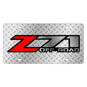 Eurosport Daytona® - GM Diamond License Plate with Black Z-71 Logo
