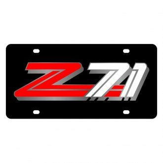 Eurosport Daytona® - GM Black License Plate with Silver Z-71 Logo