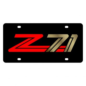 Eurosport Daytona® - GM Black License Plate with Gold Z-71 Logo