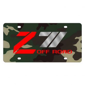 Eurosport Daytona® - GM Green Camouflage License Plate with Silver Z-71 Logo
