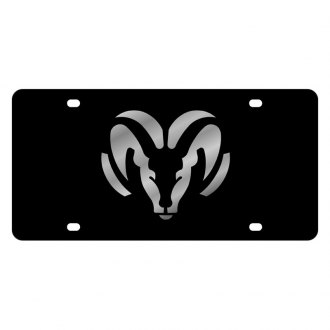 Eurosport Daytona® - MOPAR Black License Plate with Silver Ram Logo