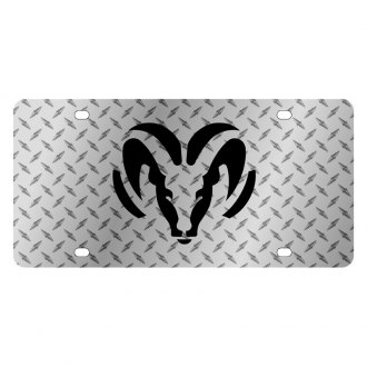 Eurosport Daytona® - MOPAR Diamond License Plate with Black Ram Logo