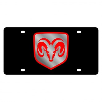 Eurosport Daytona® - MOPAR Black License Plate with Ram Framed Logo