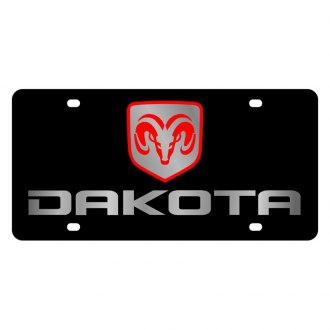 Eurosport Daytona® - MOPAR Black License Plate with Silver Dakota Logo