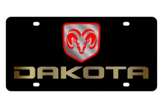 Eurosport Daytona® - MOPAR Black License Plate with Gold Dakota Logo