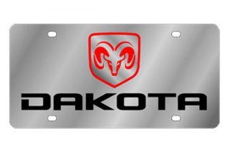 Eurosport Daytona® - MOPAR Stainless Steel License Plate with Black Dakota Logo