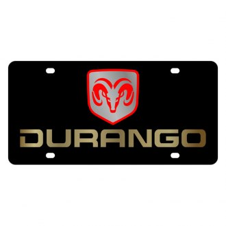 Eurosport Daytona® - MOPAR Black License Plate with Gold Durango Logo