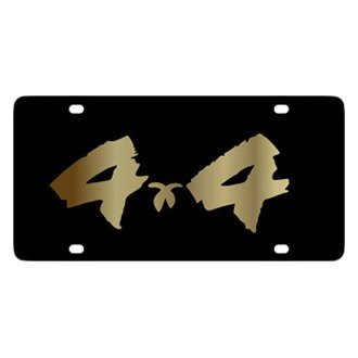 Eurosport Daytona® - MOPAR Black License Plate with Gold 4x4 Brushed Logo