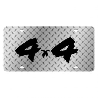 Eurosport Daytona® - MOPAR Diamond License Plate with Black 4x4 Brushed Logo