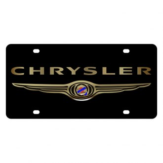 Eurosport Daytona® - MOPAR Black License Plate with Gold Chrysler Logo