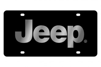 Eurosport Daytona® - MOPAR Black License Plate with Silver Jeep Logo