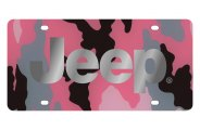 Eurosport Daytona® - Silver Jeep Logo on Pink Camouflage Lazertag Series License Plate