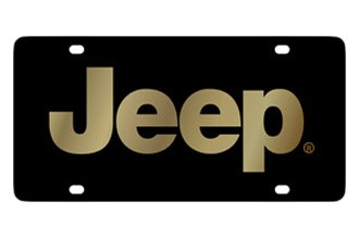 Eurosport Daytona® - MOPAR Black License Plate with Gold Jeep Logo