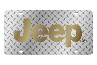 Eurosport Daytona® - MOPAR Diamond License Plate with Gold Jeep Logo