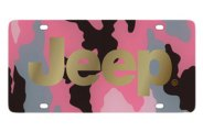 Eurosport Daytona® - Gold Jeep Logo on Pink Camouflage Lazertag Series License Plate