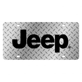 Eurosport Daytona® - MOPAR Diamond License Plate with Black Jeep Logo