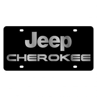 Eurosport Daytona® - MOPAR Black License Plate with Silver Cherokee Logo