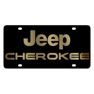 Eurosport Daytona® - MOPAR Black License Plate with Gold Cherokee Logo