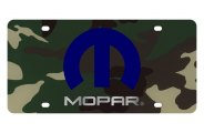 Eurosport Daytona® - Silver Mopar Logo on Green Camouflage Lazertag Series License Plate