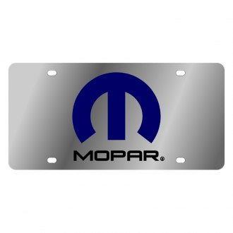 Eurosport Daytona® - MOPAR Stainless Steel License Plate with Black Mopar Logo