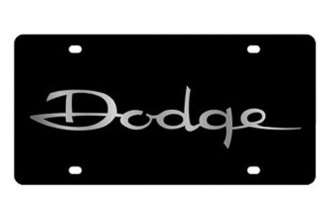 Eurosport Daytona® - MOPAR Black License Plate with Silver Dodge Logo