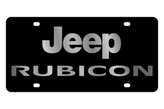 Eurosport Daytona® - MOPAR Black License Plate with Silver Rubicon Logo