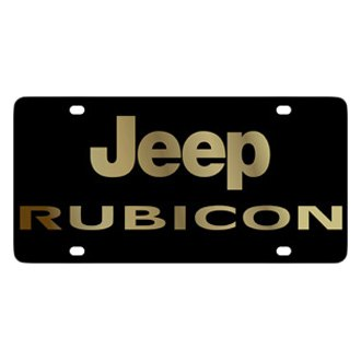 Eurosport Daytona® - MOPAR Black License Plate with Gold Rubicon Logo