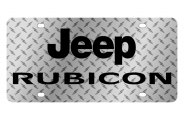 Eurosport Daytona® - Black Rubicon Logo on Diamond Plate Lazertag Series License Plate