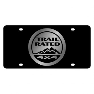Eurosport Daytona® - MOPAR Black License Plate with Silver Trail Rated Logo