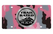 Eurosport Daytona® - Silver Trail Rated Logo on Pink Camouflage Lazertag Series License Plate