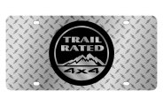 Eurosport Daytona® - Black Trail Rated Logo on Diamond Plate Lazertag Series License Plate