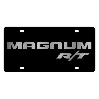 Eurosport Daytona® - MOPAR Black License Plate with Silver Magnum RT Logo