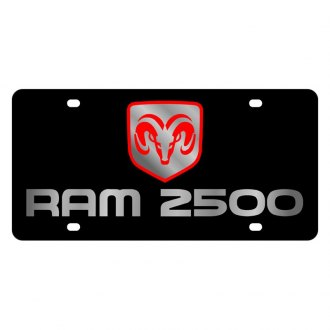 Eurosport Daytona® - MOPAR Black License Plate with Silver Ram 2500 Logo