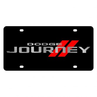 Eurosport Daytona® - MOPAR Black License Plate with Silver Journey Logo