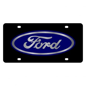 Eurosport Daytona® - Ford Motor Company Black License Plate with Silver Ford Logo