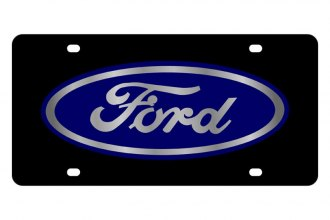 Eurosport Daytona® - Ford Motor Company - Black License Plate with Silver Ford Logo